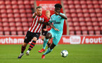 SOUTHAMPTON, ENGLAND - MAY 13: Callum Slattery (left) during the U23s PL2 Play off final between Southampton and Newcastle United pictured at St. Mary's Stadium on May 13, 2019 in Southampton, England. (Photo by James Bridle - Southampton FC/Southampton FC via Getty Images)