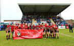 SOUTHAMPTON, ENGLAND - MAY 19: Southampton players team photo after winning the Womens Cup Final match between Southampton FC and Oxford pictured at AFC Totten on May 19, 2019 in Southampton, England. (Photo by James Bridle - Southampton FC/Southampton FC via Getty Images)