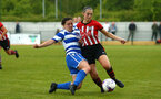SOUTHAMPTON, ENGLAND - MAY 19: Chloe Newton (right)  during the Womens Cup Final match between Southampton FC and Oxford pictured at AFC Totten on May 19, 2019 in Southampton, England. (Photo by James Bridle - Southampton FC/Southampton FC via Getty Images)