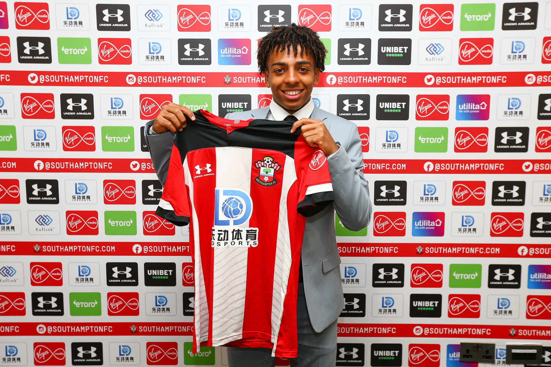SOUTHAMPTON, ENGLAND - JULY 01: Celeb Watts  signs his pro contract extension with Southampton FC on July 01, 2018 pictured at St Marys Stadium, Southampton, England. (Photo by James Bridle - Southampton FC/Southampton FC via Getty Images)