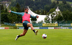 SCHRUNS, AUSTRIA - JULY 12: Jack Stephens during a Southampton FC pre season training session on July 12, 2019 in Schruns, Austria. (Photo by Matt Watson/Southampton FC via Getty Images)