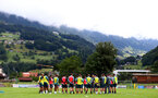 SCHRUNS, AUSTRIA - JULY 13: Ralph Hasenhuttl speaks to his players during a Southampton FC pre season training session on July 13, 2019 in Schruns, Austria. (Photo by Matt Watson/Southampton FC via Getty Images)