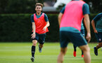 SOUTHAMPTON, ENGLAND - JULY 16: Jack Vokins (left) during a Southampton FC  training session at Staplewood Complex on July 16, 2019 in Southampton, England. (Photo by James Bridle - Southampton FC/Southampton FC via Getty Images)