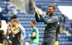 PRESTON, ENGLAND - JULY 20: Ralph Hasenhuttl of Southampton claps the Southampton Supporters after winning the pre-season friendly game between Preston North End and Southampton FC pictured at Deepdale on July 20, 2019 in Preston, England. (Photo by James Bridle - Southampton FC/Southampton FC via Getty Images)