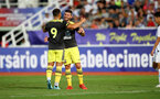 MACAU, MACAU - JULY 23: Shane Long(R) of Southampton celebrates his goal during the pre-season friendly match between Guangzhou R&F and Southampton, on July 23, 2019 at the Estadio Campo Desportivo in Macau, Macau. (Photo by Matt Watson/Southampton FC via Getty Images)