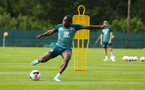 DUBLIN, ENGLAND - JULY 24: Michael Obafemi  during a Southampton FC training session pictured at Carton House Spa and Resort for Pre-Season Training on July 24, 2019 in Southampton, England. (Photo by James Bridle - Southampton FC/Southampton FC via Getty Images)