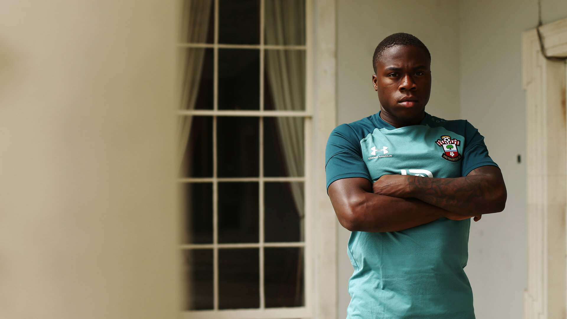 DUBLIN, ENGLAND - JULY 25: Michael Obafemi of Southampton FC during a feature photoshoot pictured at Carton House Spa and Resort for Pre-Season Training on July 24, 2019 in Southampton, England. (Photo by James Bridle - Southampton FC/Southampton FC via Getty Images)