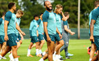 DUBLIN, ENGLAND - JULY 27: Nathan Redmond reacts during a Southampton FC Training session pictured at Carton House Spa and Resort for Pre-Season Training on July 27, 2019 in Southampton, England. (Photo by James Bridle - Southampton FC/Southampton FC via Getty Images)