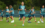 DUBLIN, ENGLAND - JULY 27: Jan Bednarek (middle)  during a Southampton FC Training session pictured at Carton House Spa and Resort for Pre-Season Training on July 27, 2019 in Southampton, England. (Photo by James Bridle - Southampton FC/Southampton FC via Getty Images)