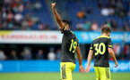 ROTTERDAM, NETHERLANDS - JULY 28: Sofiane Boufal(19) of Southampton celebrates after scoring during the pre season friendly match between Feyenoord and Southampton FC at De Kuip on July 28, 2019 in Rotterdam, Netherlands. (Photo by Matt Watson/Southampton FC via Getty Images)