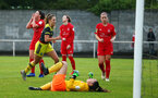 DUBLIN, ENGLAND - JULY 30: during a Womens friendly game between Southampton FC and Shellbourne Ladies for Pre-Season Training on July 30, 2019 in Southampton, England. (Photo by James Bridle - Southampton FC/Southampton FC via Getty Images)