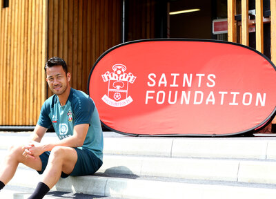 Yoshida makes Saints Foundation pledge