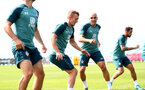 SOUTHAMPTON, ENGLAND - AUGUST 02: James Ward-Prowse and Oriol Romeu during a Southampton FC pre season training session at the Staplewood Campus on August 02, 2019 in Southampton, England. (Photo by Matt Watson/Southampton FC via Getty Images)