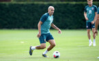 SOUTHAMPTON, ENGLAND - AUGUST 02: Oriol Romeu during a Southampton FC pre season training session at the Staplewood Campus on August 02, 2019 in Southampton, England. (Photo by Matt Watson/Southampton FC via Getty Images)