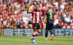 SOUTHAMPTON, ENGLAND - AUGUST 03: Danny Ings of Southampton FC scores from the penalty spot during the Pre-Season Friendly match between Southampton FC and FC Köln pictured at St. Mary's Stadium on August 03, 2019 in Southampton, England. (Photo by James Bridle - Southampton FC/Southampton FC via Getty Images)