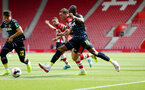SOUTHAMPTON, ENGLAND - AUGUST 03: Pierre-Emile Hojbjerg of Southampton is brought down in the penalty area during the Pre-Season Friendly match between Southampton FC and FC Köln at St. Mary's Stadium on August 03, 2019 in Southampton, England. (Photo by Matt Watson/Southampton FC via Getty Images,)