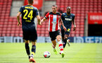 SOUTHAMPTON, ENGLAND - AUGUST 03: Jan Bednarek of Southampton during the Pre-Season Friendly match between Southampton FC and FC Köln at St. Mary's Stadium on August 03, 2019 in Southampton, England. (Photo by Matt Watson/Southampton FC via Getty Images,)