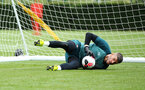 SOUTHAMPTON, ENGLAND - AUGUST 07: Fraser Forster during a Southampton FC training session pictured at Staplewood Training Ground on August 07, 2019 in Southampton, England. (Photo by James Bridle - Southampton FC/Southampton FC via Getty Images)