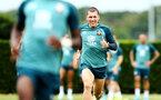 SOUTHAMPTON, ENGLAND - AUGUST 08: Pierre-Emile Hojbjerg (right) during a Southampton FC Training Session pictured at Staplewood Training Ground on August 08, 2019 in Southampton, England. (Photo by James Bridle - Southampton FC/Southampton FC via Getty Images)