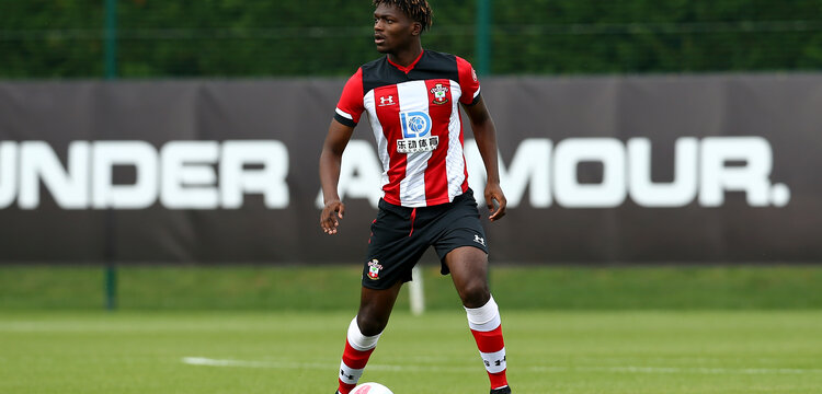 SOUTHAMPTON, ENGLAND - AUGUST 10: Allan TChaptChet during an U18s game between Southampton FC and Aston Villa pictured at Staplewood Training Ground on August 10, 2019 in Southampton, England. (Photo by James Bridle - Southampton FC/Southampton FC via Getty Images)