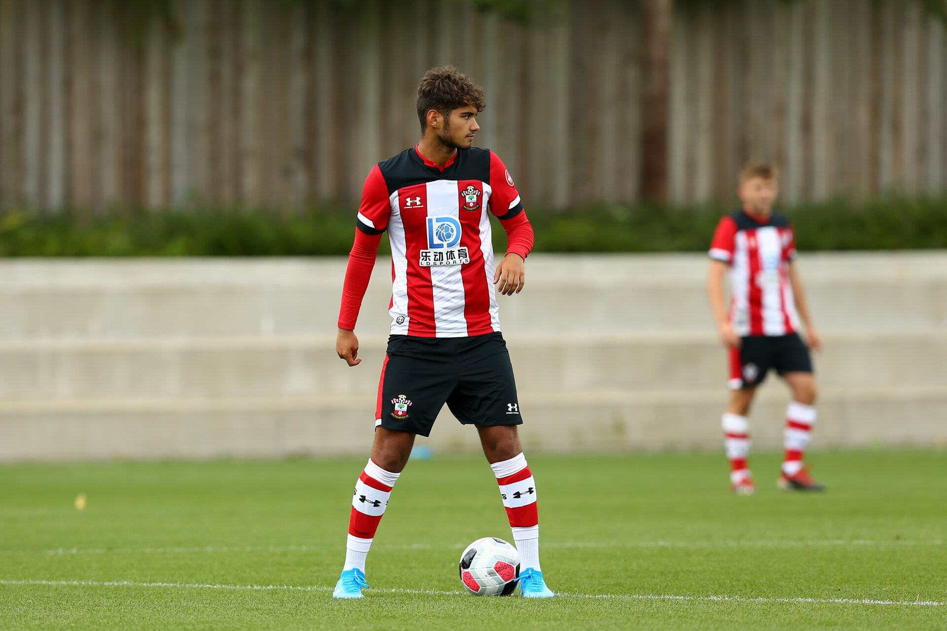 SOUTHAMPTON, ENGLAND - AUGUST 10: Benni Smails Braithwaite during an U18s game between Southampton FC and Aston Villa pictured at Staplewood Training Ground on August 10, 2019 in Southampton, England. (Photo by James Bridle - Southampton FC/Southampton FC via Getty Images)