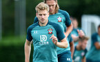 SOUTHAMPTON, ENGLAND - AUGUST 13: Stuart Armstrong during a Southampton FC training session at the Staplewood Campus on August 13, 2019 in Southampton, England. (Photo by Matt Watson/Southampton FC via Getty Images)