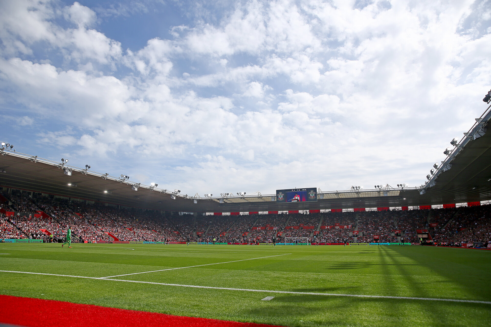 SOUTHAMPTON, ENGLAND - AUGUST 17: A general view during the Premier League match between Southampton FC and Liverpool FC at St Mary's Stadium on August 17, 2019 in Southampton, United Kingdom. (Photo by Matt Watson/Southampton FC via Getty Images)