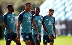 SOUTHAMPTON, ENGLAND - AUGUST 20: Yan Valery(L) and Moussa Djenepo during a Southampton FC training session at the Staplewood Campus on August 20, 2019 in Southampton, England. (Photo by Matt Watson/Southampton FC via Getty Images)