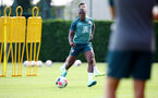 SOUTHAMPTON, ENGLAND - AUGUST 22: Michael Obafemi during a Southampton FC training session at the Staplewood Campus on August 22, 2019 in Southampton, England. (Photo by Matt Watson/Southampton FC via Getty Images)