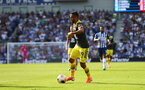BRIGHTON, ENGLAND - AUGUST 24: Sofiane Boufal of Southampton  during the Premier League match between Brighton & Hove Albion and Southampton FC at American Express Community Stadium on August 24, 2019 in Brighton, United Kingdom. (Photo by Matt Watson/Southampton FC via Getty Images)