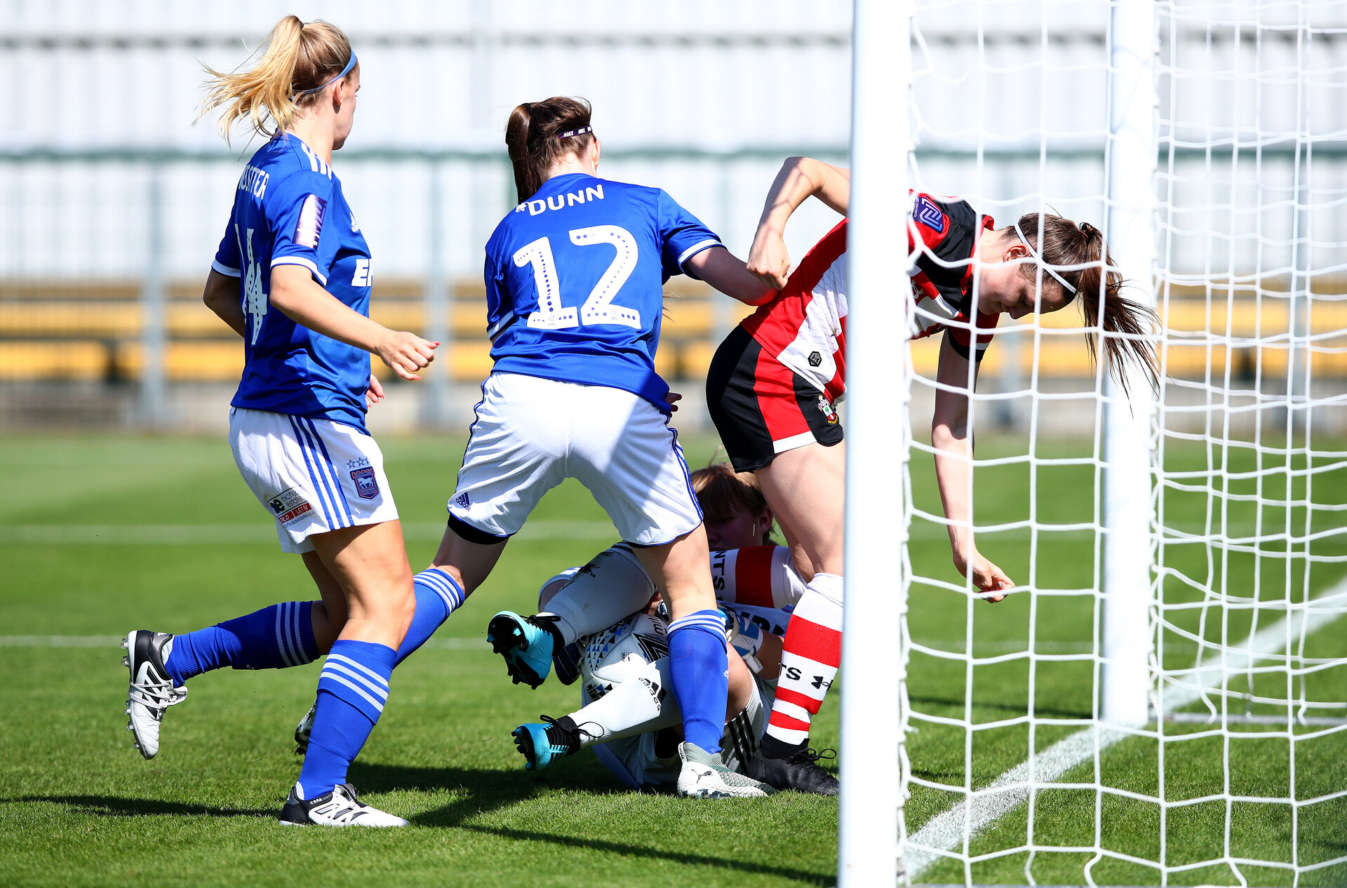 SOUTHAMPTON, ENGLAND - AUGUST 25: during the match between Southampton FC Women and Ipswich Town Women, at AFC Totton's Testwood Park, Totton, on August 25, 2019 in Southampton, England. (Photo by Matt Watson/Southampton FC via Getty Images)