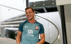 SOUTHAMPTON, ENGLAND, AUGUST 28, Cedric Soares  during a Southampton FC training session at the Staplewood Campus, Southampton during a Southampton FC training session at the Staplewood Campus, Southampton
