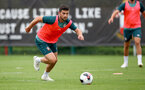 SOUTHAMPTON, ENGLAND, AUGUST 28, Shane Long during a Southampton FC training session at the Staplewood Campus, Southampton