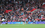 SOUTHAMPTON, ENGLAND - AUGUST 31: Utilita during the Premier League match between Southampton FC and Manchester United at St Mary's Stadium on August 31, 2019 in Southampton, United Kingdom. (Photo by Chris Moorhouse/Southampton FC via Getty Images)