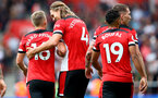 SOUTHAMPTON, ENGLAND - AUGUST 31: James Ward-Prowse(L) and Jannik Vestergaard during the Premier League match between Southampton FC and Manchester United at St Mary's Stadium on August 31, 2019 in Southampton, United Kingdom. (Photo by Matt Watson/Southampton FC via Getty Images)