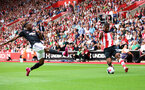 31st August 2019, St Marys Stadium, Saints against Manchester United, Kevin Danso cross into box