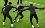 England's midfielder Raheem Sterling (C) plays a game of Kabaddi with teammates at an England team training session at Staplewood Campus in southampton, southern England on September 9, 2019, ahead of their Euro 2020 football qualification match against Kosovo. (Photo by Glyn KIRK / AFP) / NOT FOR MARKETING OR ADVERTISING USE / RESTRICTED TO EDITORIAL USE        (Photo credit should read GLYN KIRK/AFP/Getty Images)