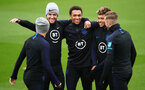 SOUTHAMPTON, ENGLAND - SEPTEMBER 09: (L-R) Kieran Trippier, Ben Chilwell, Trent Alexander-Arnold, Alex Oxlade-Chamberlain and James Maddison of England look on during an England training session at St. Mary's Stadium on September 09, 2019 in Southampton, England. (Photo by Julian Finney/Getty Images)