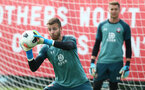 SOUTHAMPTON, ENGLAND - SEPTEMBER 10: Angus Gunn during a Southampton FC training session at the Staplewood Campus on September 10, 2019 in Southampton, England. (Photo by Matt Watson/Southampton FC via Getty Images)