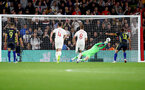 SOUTHAMPTON, ENGLAND - SEPTEMBER 10: Jordan Pickford is beaten from the penalty spot during the UEFA Euro 2020 qualifier match between England and Kosovo at St. Mary's Stadium on September 10, 2019 in Southampton, England. (Photo by Matt Watson/Southampton FC via Getty Images)