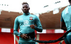 SOUTHAMPTON, ENGLAND - SEPTEMBER 12: Moussa Djenepo during a Southampton FC training session at St Mary's stadium on September 12, 2019 in Southampton, England. (Photo by Matt Watson/Southampton FC via Getty Images)