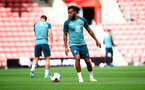 SOUTHAMPTON, ENGLAND - SEPTEMBER 12: Ryan Bertrand during a Southampton FC training session at St Mary's stadium on September 12, 2019 in Southampton, England. (Photo by Matt Watson/Southampton FC via Getty Images)