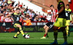 SHEFFIELD, ENGLAND - SEPTEMBER 14: Pierre-Emile Hojbjerg(L) of during the Premier League match between Sheffield United and Southampton FC at Bramall Lane on September 14, 2019 in Sheffield, United Kingdom. (Photo by Matt Watson/Southampton FC via Getty Images)