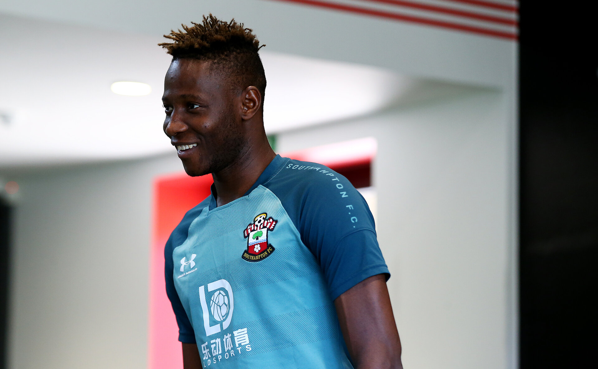 SOUTHAMPTON, ENGLAND - SEPTEMBER 15: Moussa Djenepo during a Southampton FC training/recovery session at the Staplewood Campus on September 15, 2019 in Southampton, England. (Photo by Matt Watson/Southampton FC via Getty Images)