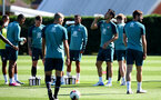 SOUTHAMPTON, ENGLAND - SEPTEMBER 17: Players drink from Wow Hydrate bottles during a Southampton FC training session at the Staplewood Campus on September 17, 2019 in Southampton, England. (Photo by Matt Watson/Southampton FC via Getty Images)