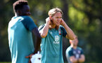 SOUTHAMPTON, ENGLAND - SEPTEMBER 19: Jannik Vestergaard during a Southampton FC training session at the Staplewood Campus on September 19, 2019 in Southampton, England. (Photo by Matt Watson/Southampton FC via Getty Images)
