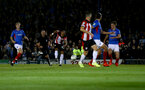 PORTSMOUTH, ENGLAND - SEPTEMBER 24: Nathan Redmond of Southampton scores during the Carabao Cup Third Round match between Portsmouth and Southampton at Fratton Park on September 24, 2019 in Portsmouth, England. (Photo by Matt Watson/Southampton FC via Getty Images)