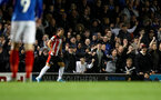PORTSMOUTH, ENGLAND - SEPTEMBER 24: Portsmouth fans shout at Cedric Soares of Southampton during the Carabao Cup Third Round match between Portsmouth and Southampton at Fratton Park on September 24, 2019 in Portsmouth, England. (Photo by Matt Watson/Southampton FC via Getty Images)