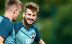 SOUTHAMPTON, ENGLAND - SEPTEMBER 26: Stuart Armstrong during a Southampton FC training session at the Staplewood Campus on September 26, 2019 in Southampton, England. (Photo by Matt Watson/Southampton FC via Getty Images)