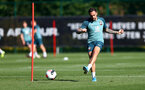 SOUTHAMPTON, UK, OCTOBER 02: Danny Ings during a Southampton FC training session at the Staplewood Campus, Southampton, UK, 2nd October 2019, (pic by Matt Watson/Southampton FC via Getty Images)